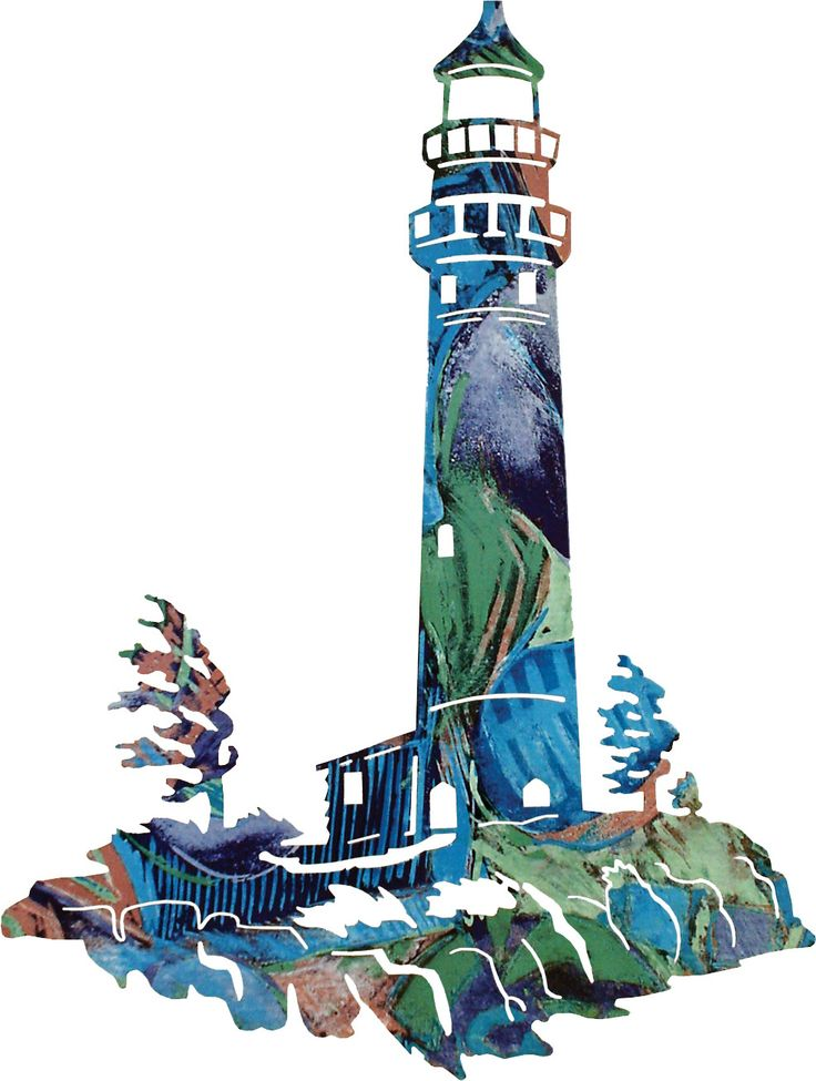 Lighthouse Scene Lookout Laser Cut Metal Wall Art