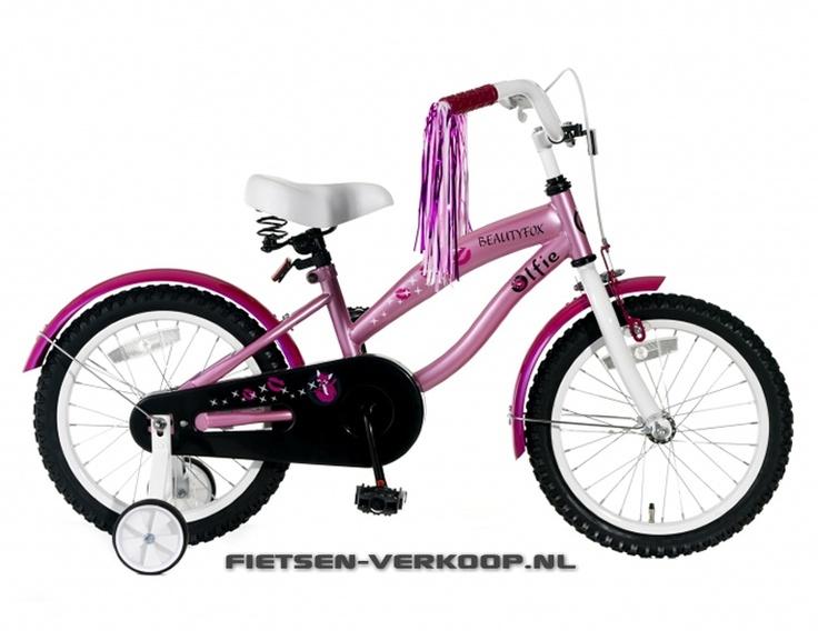 Meisjesfiets Beautyfox Roze 16 Inch | bestel gemakkelijk online op Fietsen-verkoop.nl