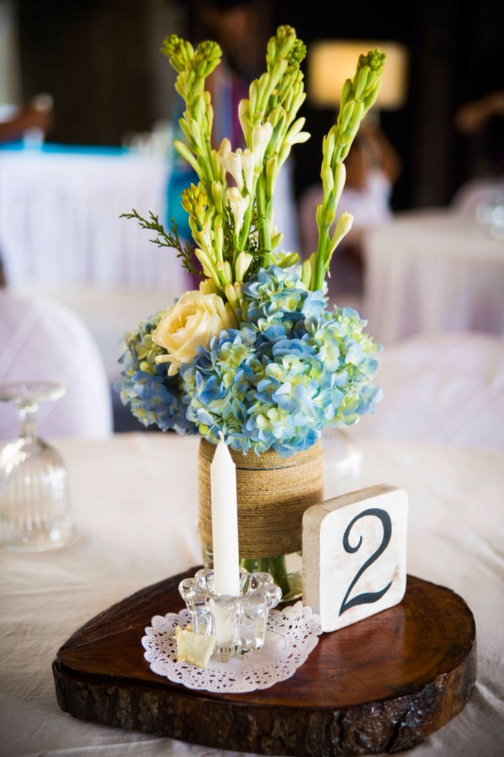 Table numbers and candle holders