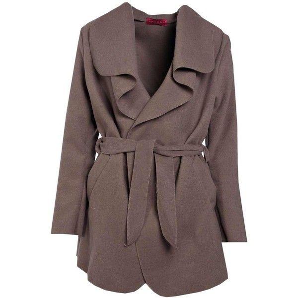 Boohoo Abigail Waterfall Coat | Boohoo (46 BGN) ❤ liked on Polyvore featuring outerwear, coats, puff coat, puffer coat, red rain coat, red puffer coat and bomber coats
