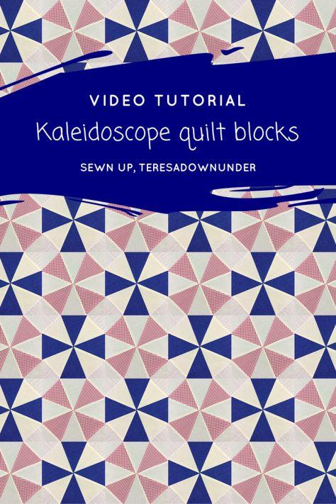 Video tutorial: Kaleidoscope quilt blocks
