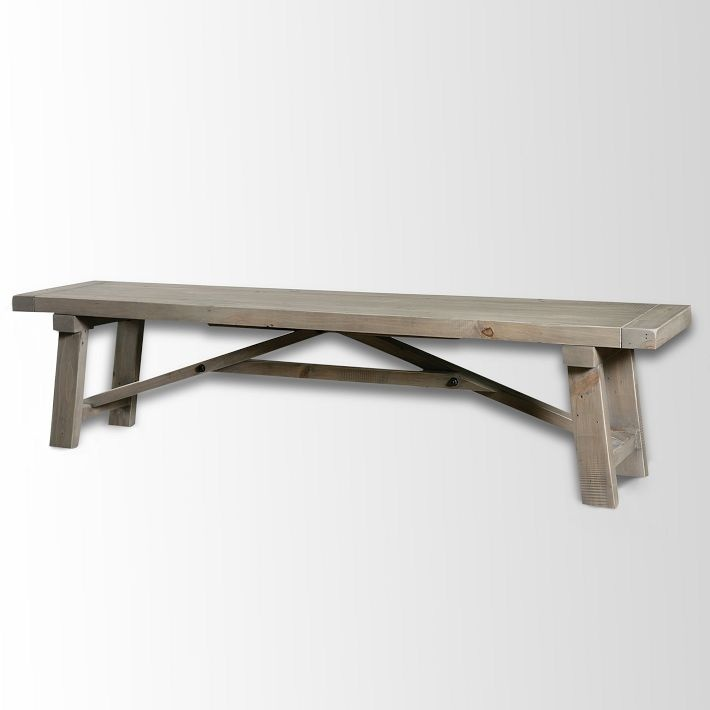 wooden truss dining bench