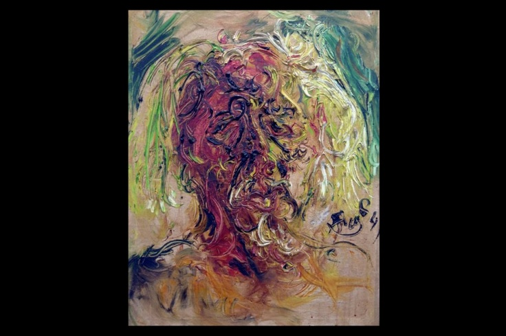 A 1984 self-portrait by Affandi