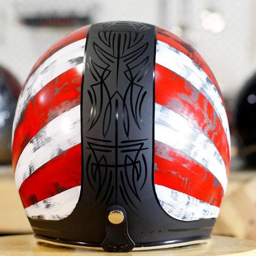 Rock and Ride Rising Sun Helmet - Custom Hand Painted