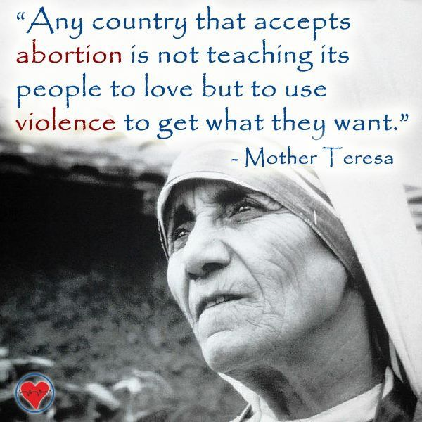 Mother Teresa Quotes About Abortion: 322 Best Images About Mother Teresa Of Calcutta On