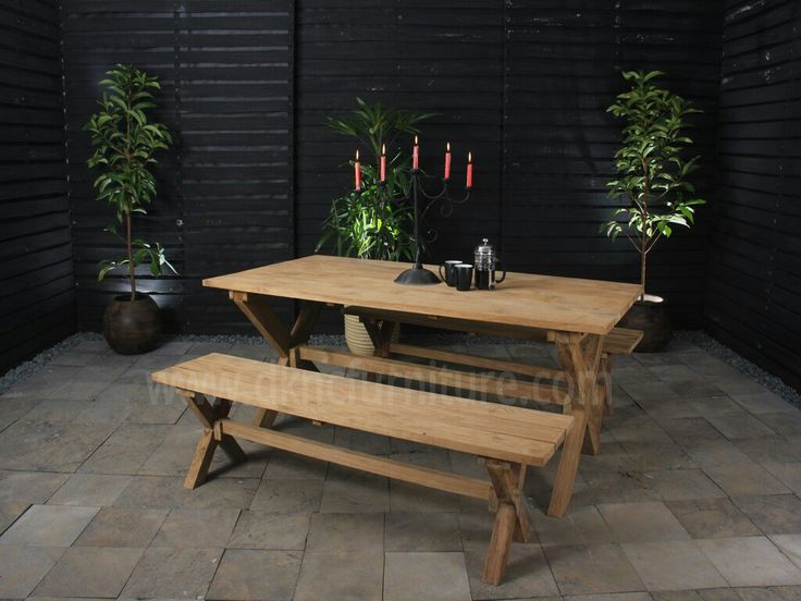 Outdoor Furniture Dinning Table set With Bench Beautiful Love Set Living Room more info E-mail: kranji123@indo.net.id / info@dkncfurniture.com or visit website www.dkncfurniture.com #outdoors #furniture #board #spogagafa #dkncfurniture #living #room #dinner #party #coffee