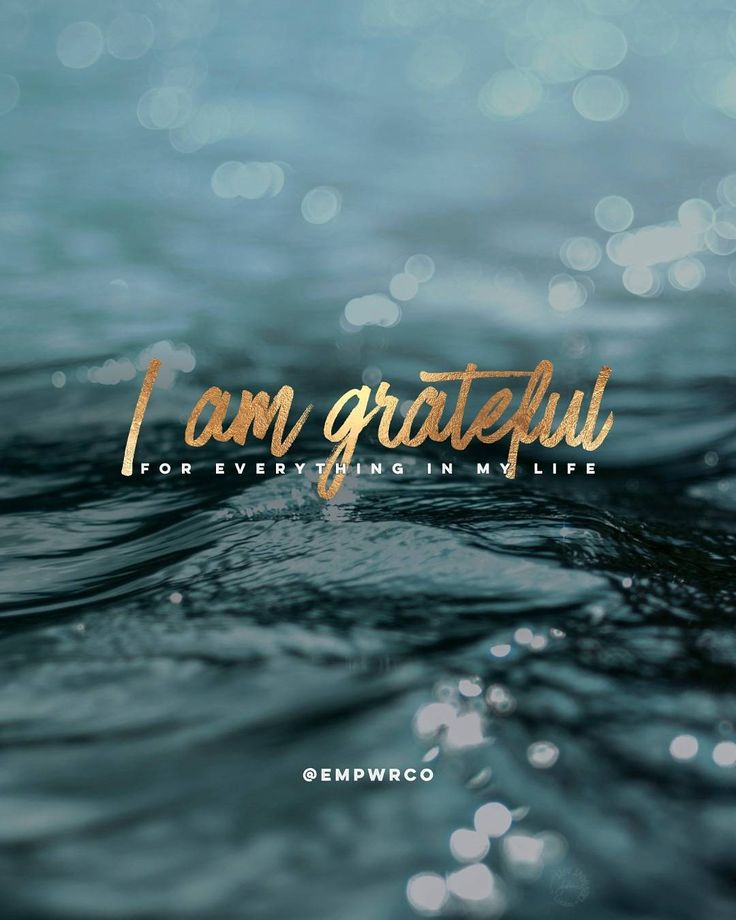 "#Affirmation: ""I am grateful for everything in my life."" Gratitude unlocks the…"