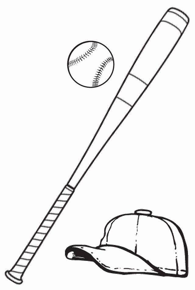 Baseball Bat Coloring Page Inspirational Free Picture A Baseball