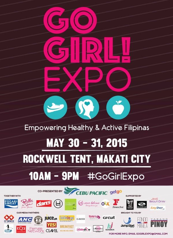 WIN VIP passes to GO GIRL! EXPO – Empowering Healthy and Active Filipinas. Visit HealthJunkie.ph for more info.
