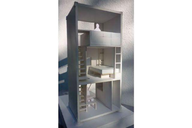 Home Box maison conçu avec un conteneur d'expédition verticale7