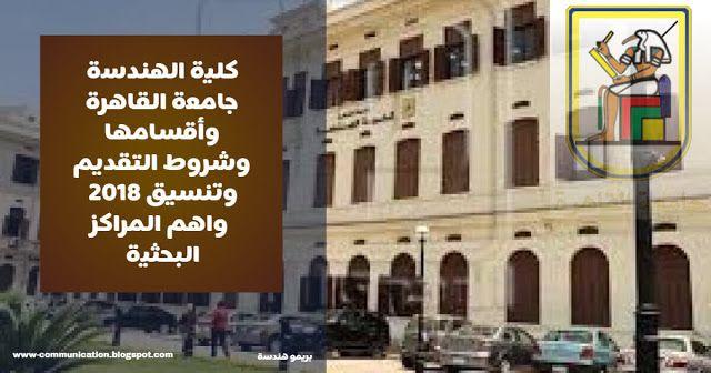 كلية الهندسة جامعة القاهرة وأقسامها وشروط التقديم وتنسيق 2018 واهم المراكز البحثية Building Street View Scenes