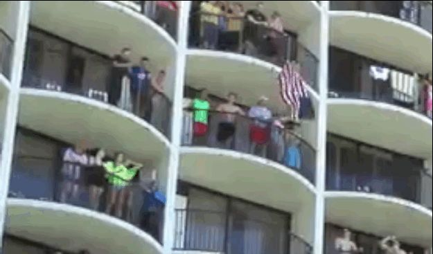 a florida hotel wakes up spring breakers with a motivational song… lmao!