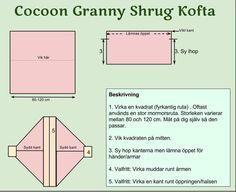 cocoon granny shrug cardigan kofta pattern diagram crochet mönster virka virkning mormorsruta