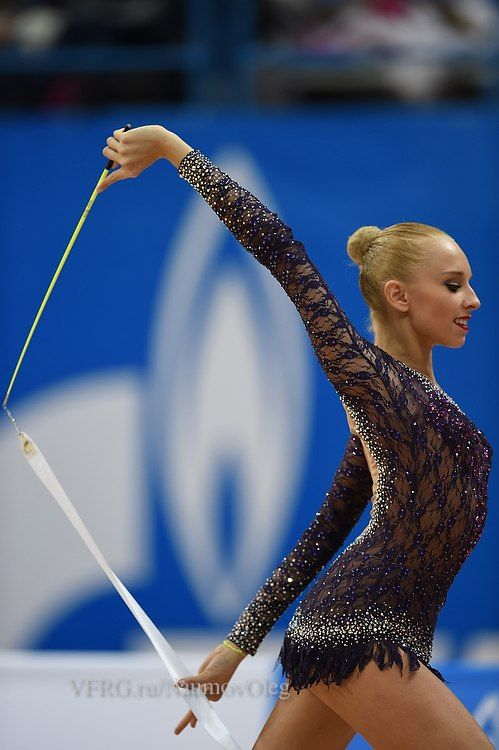 Yana Kudryavtseva, Russia, took 2nd place in all-around at Grand Prix Moscow 2015