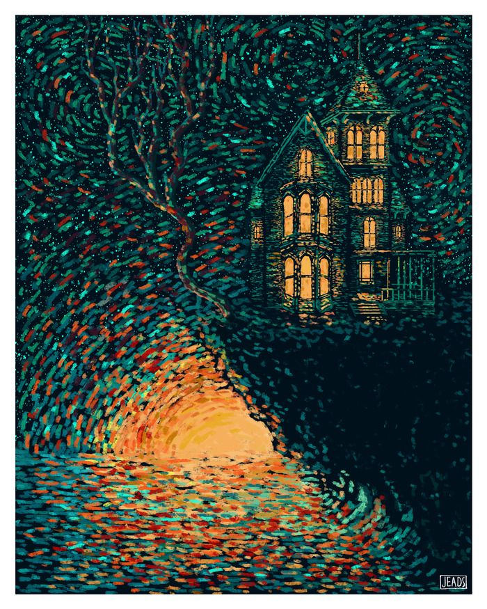 "James R. Eads » ""The Tower"" Prisma Visions Tarot -- If you love Tarot, visit me at www.WhiteRabbitTarot.com"
