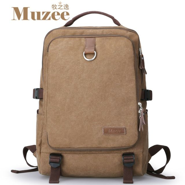 Fair price 2017 Muzee High quality canvas men's backpack men's travel bags vintage rucksack school bags laptop knapsack,muzee just only $31.36 with free shipping worldwide  #backpacksformen Plese click on picture to see our special price for you