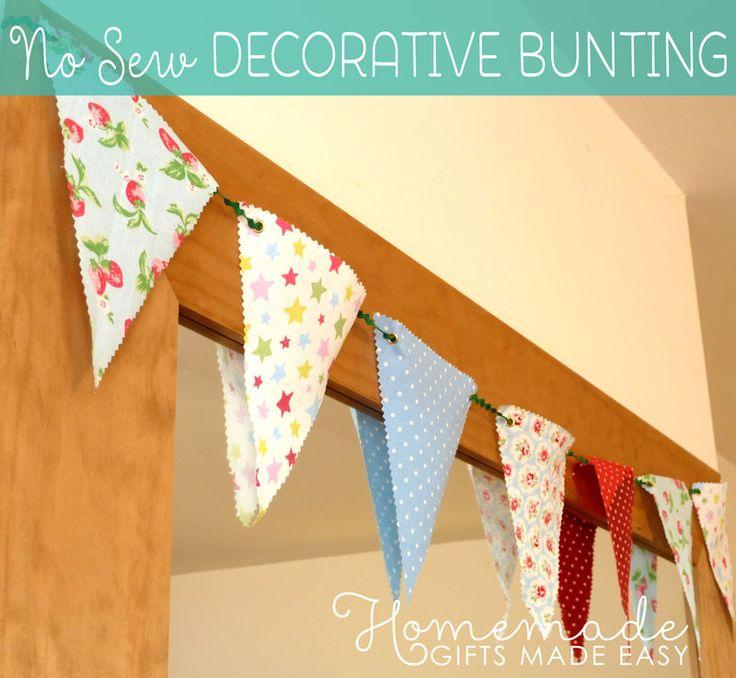 No-Sew decorative bunting instructions
