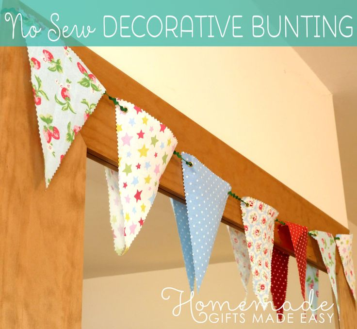 No-Sew decorative bunting instructions