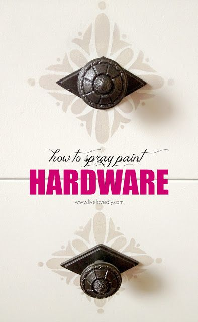 10 Spray Paint Tips: what you never knew about spray paint (like how to spray paint furniture hardware!). Good to know! Check this out!