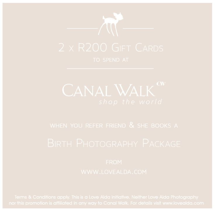 Canal Walk Gift Card with www.lovealda.com #canalwalk #giftcard #freebie #maternity