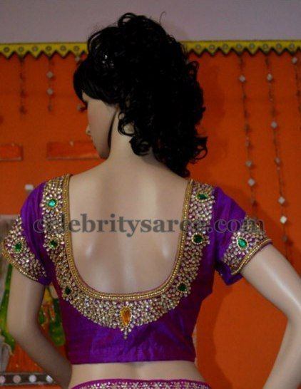Sequins Kundan Work Saree Blouses