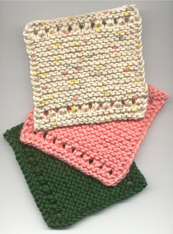 Knitted Coasters Free Patterns : Eyelet-Edged Coasters By Rita OConnell - Free Knitted Pattern - (earthhe...