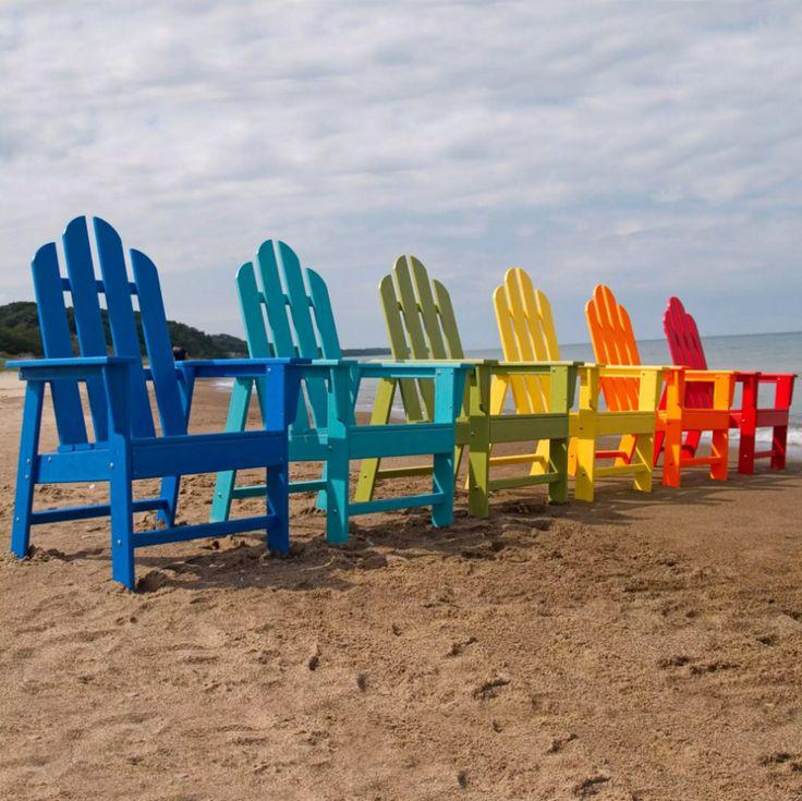 Adirondack Stühle Sind Ideal Für Chillen Am Strand. Dieses Modell Der  Adirondack Stuhl Kommt In