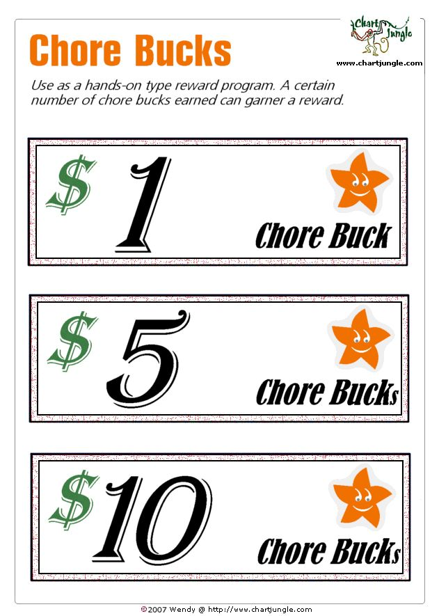 16 best mom bucks images on pinterest chore rewards for Classroom bucks template