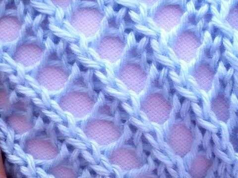 Como Tejer ENCAJE DIAGONAL - Diagonal Lace Stitch 2 Agujas (29) - YouTube