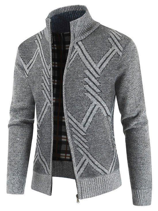Geometric Pattern Long Sleeves Cardigan
