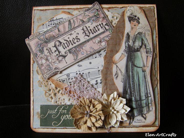 Elen ArtCrafts: Ευχετήρια Κάρτα/Ladies Diary Card