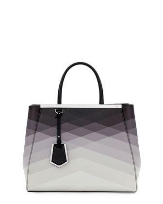 2Jours Medium Tote Bag, Black Pattern by Fendi at Bergdorf Goodman.