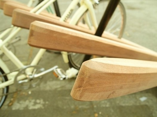 how to build a bike rack out of wood