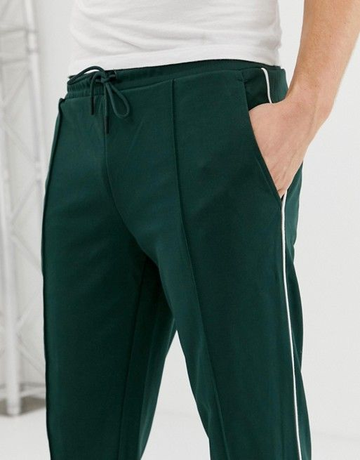 2facba5936ac2 Only & Sons tapered cropped side stripe track pant in 2019 | MENS ...