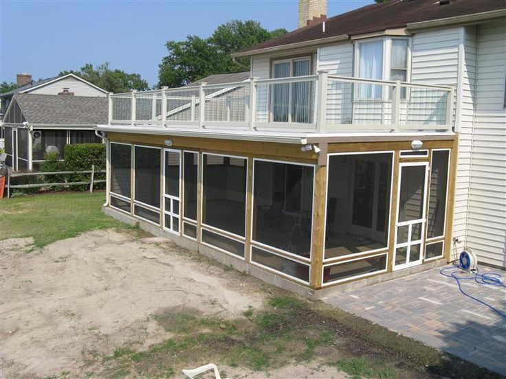 Deck over screened porch screened patio pinterest for Balcony screen
