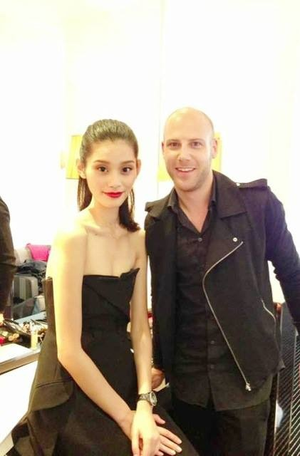 With Christian Dior makeup artist Alexandre Nedellec