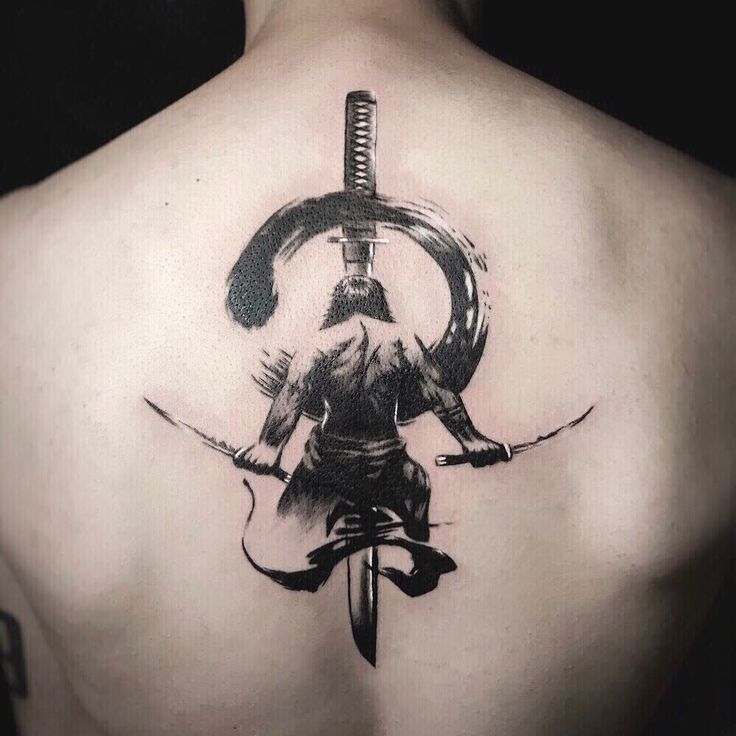3D Realistic Japanese Samurai Sword Tattoo …