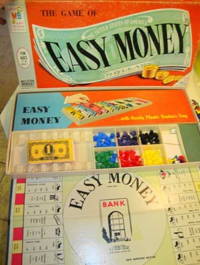 Easy money game c 1963 vintage toys pinterest free money and earn money for How to earn money in home design game
