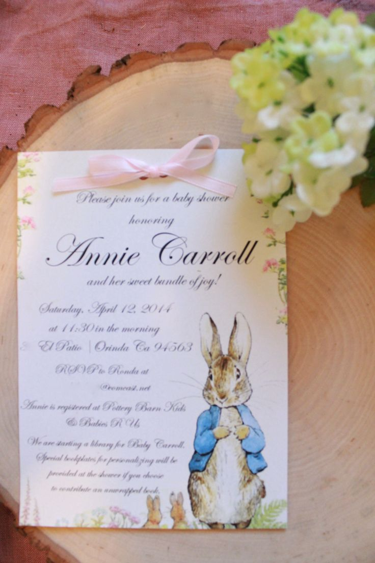 boy baby shower invitations australia%0A Beatrix Potter  Peter Rabbit baby shower invitation  Linen and Lilac  linenandlilacdesgin gmail