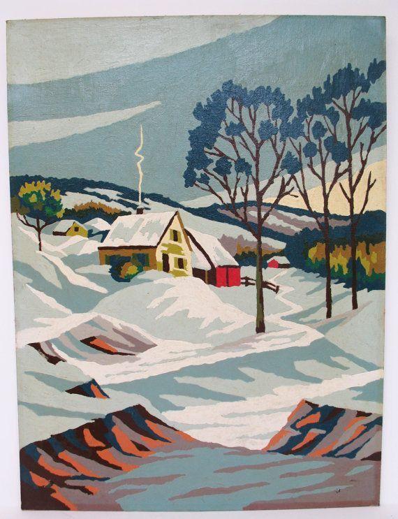 Vintage Paint by Number Maine Vintage Winter