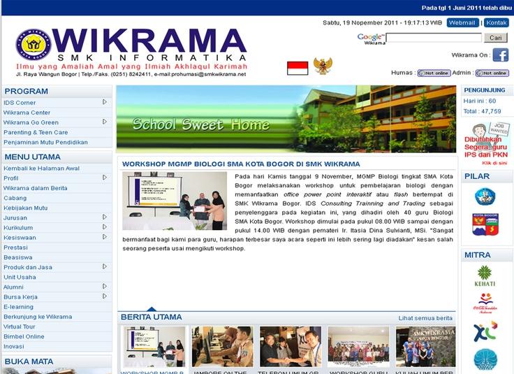 Websie SMK Wikrama Bogor