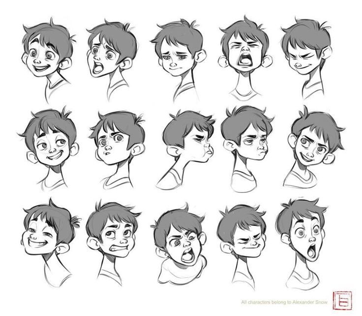 expression sheet , TB Choi on ArtStation at https://www.artstation.com/artwork/6O30V