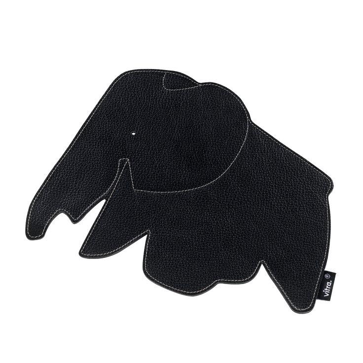 Vitra Podložka pod myš Elephant 25 cm, černá kůže | 4Home - pohodlí domova