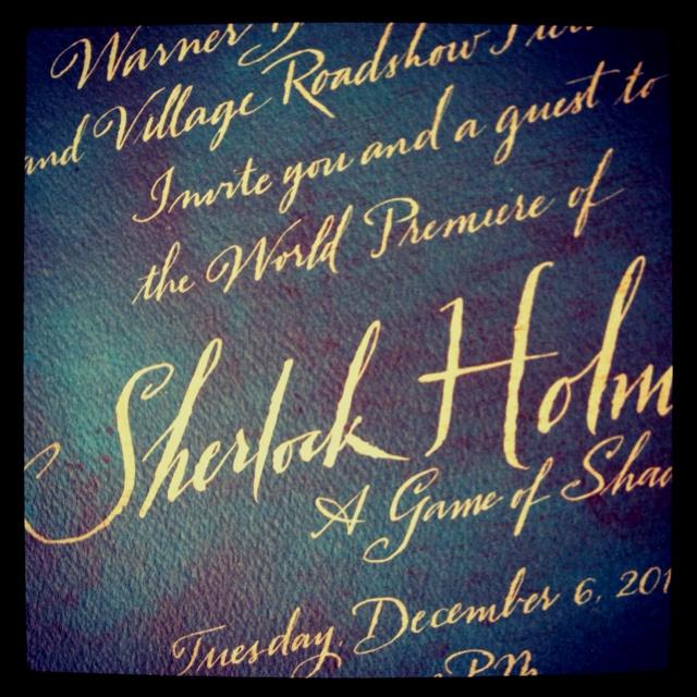9 best film invitations images on pinterest invitation sherlock holmes ii premiere invite stopboris Images