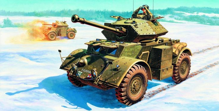 1944 Ardenas Staghound Mk III  12th Manitoba Dragoons, 2nd Canadian Corps- Andrzej Deredos - box art Italeri