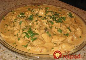 Jemná smotanovo-horčicová omáčka s kuracím mäsom
