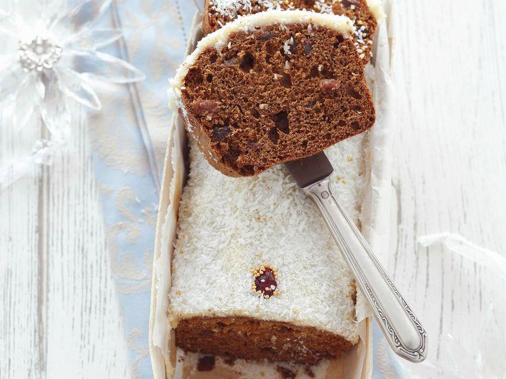 Weihnachtlicher Honigkuchen mit Kokosglasur