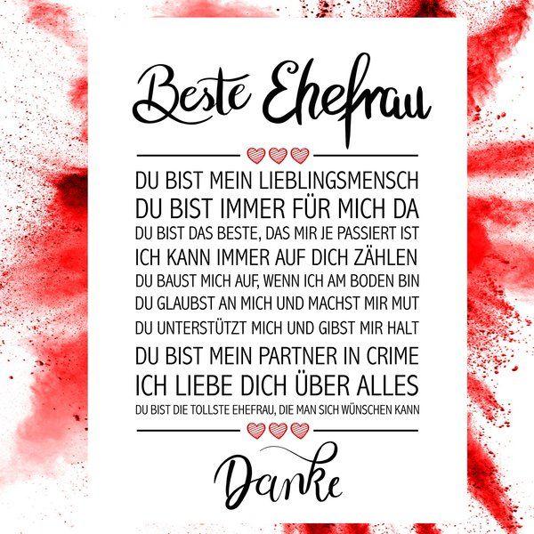 Partner-Geschenk Freundin Freund Kunstdruck LIEBE DU BIST/…1 ohne Rahmen DIN A4 Format