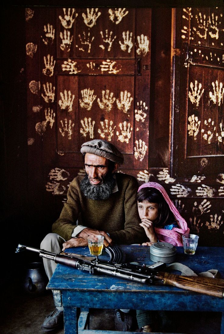 'Father and daughter at home in Nuristan', 1992. | 24 Striking Pictures Of Afghanistan By Photojournalist Steve McCurry