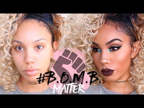 Beauty Vloggers Beat Their Faces With Black-Owned Cosmetics ONLY for the #BOMB Challenge | Black Girl with Long Hair